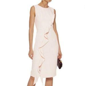 MILLY Tilly Cream Ruffled Dress